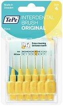 TePe Interdental Brush Original - Size 4 - Интердентални четки за зъби с размер 0.7 mm - комплект от 6 броя -