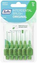 TePe Interdental Brush Original - Size 5 - Интердентални четки за зъби с размер 0.8 mm - комплект от 6 броя -
