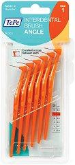 TePe Interdental Brush Angle - Size 1 - Интердентални четки за зъби с размер 0.45 mm - комплект от 6 броя -