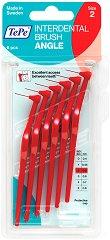 TePe Interdental Brush Angle - Size 2 - Интердентални четки за зъби с размер 0.5 mm - комплект от 6 броя -