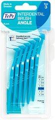 TePe Interdental Brush Angle - Size 3 - Интердентални четки за зъби с размер 0.6 mm - комплект от 6 броя -
