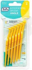 TePe Interdental Brush Angle - Size 4 - Интердентални четки за зъби с размер 0.7 mm - комплект от 6 броя -