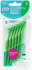 TePe Interdental Brush Angle - Size 5 - Интердентални четки за зъби с размер 0.8 mm - комплект от 6 броя -