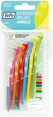 TePe Interdental Brush Angle Mixed Pack - Интердентални четки за зъби с размери 0.4 ÷ 0.8 mm - комплект от 6 броя - крем