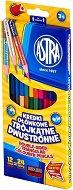 Двувърхи цветни моливи - Комплект от 24 или 48 цвята с острилка