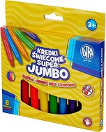 Восъчни пастели - Jumbo - Комплект от 8 цвята