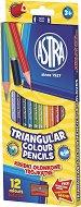 Триъгълни цветни моливи - Комплект от 12 или 24 цвята с острилка