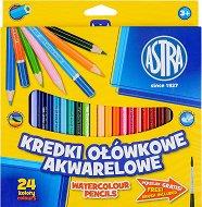 Акварелни моливи - Комплект от 12 или 24 цвятa с четка