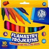 Триъгълни флумастери - Комплект от 10 цвята