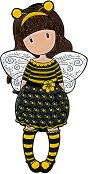 "Брошка - Bee-Loved - От серията ""Gorjuss"" -"
