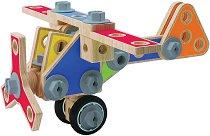 Самолет - Детски дървен конструктор -