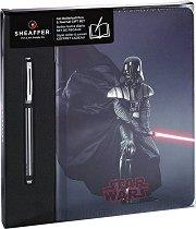 Тефтер с твърди корици - Darth Vader - Комплект с ролер