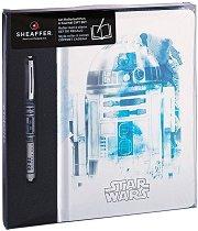 Тефтер с твърди корици - R2-D2 - Комплект с ролер