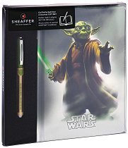 Тефтер с твърди корици - Yoda - Комплект с ролер
