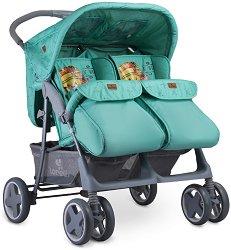 Лятна бебешка количка за близнаци - Twin 2019 - С 4 колела -