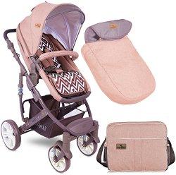 Комбинирана бебешка количка - Verso - С 4 колела -