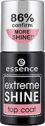 Essence Extreme Shine Top Coat - Топ лак за нокти за огледален блясък - крем