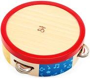 Тамбурина - Детски дървен музикален инструмент -