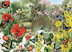 Паун в градина - Барбара Бер (Barbara Behr) - пъзел