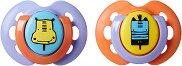 """Залъгалки от силикон с ортодонтична форма - Fun Style - Комплект от 2 броя от серия """"Closer to Nature"""" за бебета от 0 до 6 месеца -"""