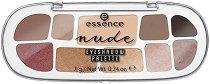 Essence Nude Eyeshadow Palette - Палитра с 10 цвята сенки за очи -