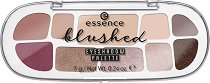 Essence Blushed Eyeshadow Palette - Палитра с 10 цвята сенки за очи -