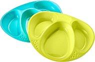Чинии за хранене с три отделения - Explora Section Plate - Комплект от 2 броя за бебета над 12 месеца -