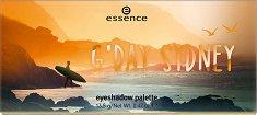 Essence G'Day Sydney Eyeshadow Palette - Палитра с 9 цвята сенки за очи - шампоан