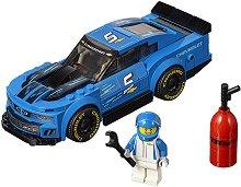 """Състезателен автомобил - Chevrolet Camaro ZL1 - Детски конструктор от серията """"LEGO: Speed Champions"""" - играчка"""