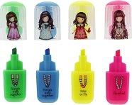 Цветни маркери - Gorjuss - Комплект от 4 цвята в прозрачен несесер