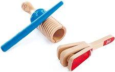 Перкусионни инструменти - Детски дървен музикален комплект -