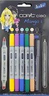 """Двувърхи маркери - Ciao Manga Set 1 - Комплект от 5 цвята и тънкописец от серията """"Ciao"""""""