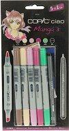 """Двувърхи маркери - Ciao Manga Set 3 - Комплект от 5 цвята и тънкописец от серията """"Ciao"""""""