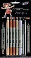 """Двувърхи маркери - Ciao Manga Set 4 - Комплект от 5 цвята и тънкописец от серията """"Ciao"""""""