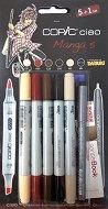 """Двувърхи маркери - Ciao Manga Set 5 - Комплект от 5 цвята и тънкописец от серията """"Ciao"""""""