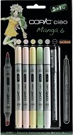 """Двувърхи маркери - Ciao Manga Set 6 - Комплект от 5 цвята и тънкописец от серията """"Ciao"""""""