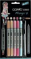 """Двувърхи маркери - Ciao Manga Set 7 - Комплект от 5 цвята и тънкописец от серията """"Ciao"""""""