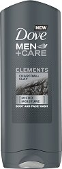 Dove Men+Care Elements Charcoal + Clay Body and Face Wash - дезодорант