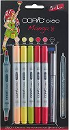 """Двувърхи маркери - Ciao Manga Set 8 - Комплект от 5 цвята и тънкописец от серията """"Ciao"""""""