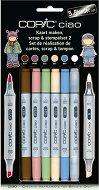 """Двувърхи маркери за скрапбукинг - Scrap and stempelset 2 - Комплект от 5 цвята и блендер от серията """"Ciao"""""""