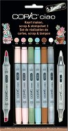 """Двувърхи маркери за скрапбукинг - Scrap and stempelset 1 - Комплект от 5 цвята и блендер от серията """"Ciao"""""""