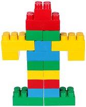 Детски конструктор - Maxi Block - Комплект от 20 части и стикери -