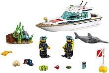 """Яхта с водолази - Детски конструктор от серията """"LEGO: City"""" - играчка"""