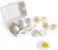 Яйца за игра - Комплект от 6 броя в картонена кутийка - играчка
