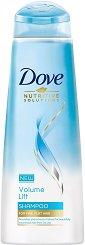 Dove Volume Lift Shampoo - Шампоан за обем за тънка коса - душ гел