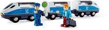 """Високоскоростен влак - Детска дървена играчка от серията  """"Hape: Влакчета"""" -"""