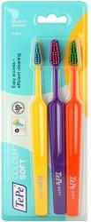 TePe Colour Soft - Комплект от 3 броя меки четки за зъби - паста за зъби