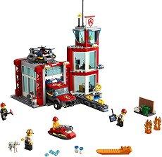 """Пожарна станция - Детски конструктор от серията """"LEGO: City"""" - играчка"""