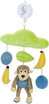 Музикална въртележка - Маймунката Anton - Играчка за бебешко креватче -