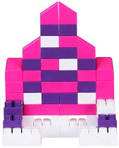 Детски конструктор - Замък за принцеси - Комплект от 44 части и стикери -